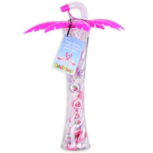 Pinker Slush-Eis-Becher in Palmenform