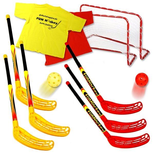 Hockey-Set leihen: Hockeyschläger, Hockeytore +Hockeyzubehör, 6 Stk.,
