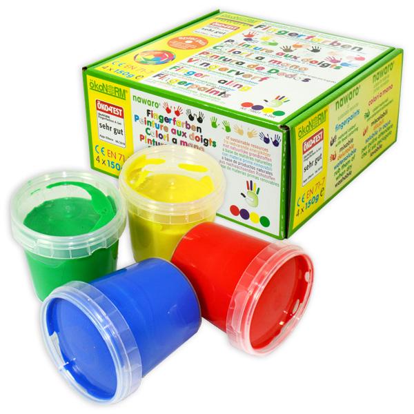 """Fingerfarben (Fingermalfarben) für Kinder """"Ökonorm"""" im Set"""