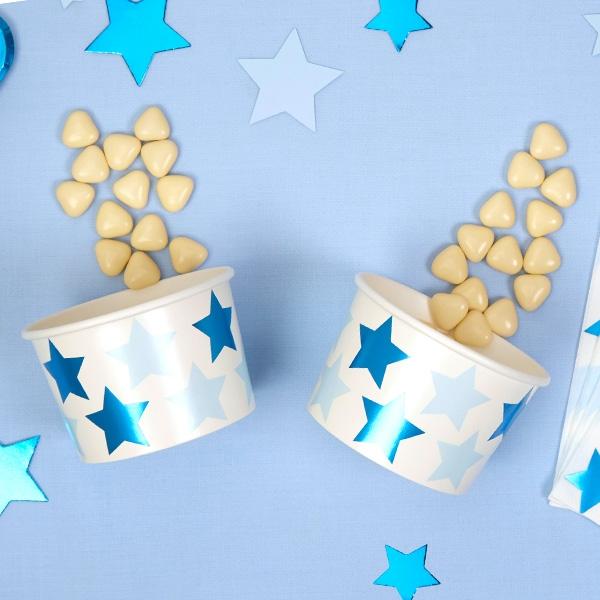 """Snack-Eisbecher """"Kleiner Stern""""in blau, 8er Pack"""