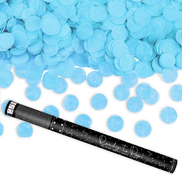 Gender Reveal Konfettishooter in blau, 58cm