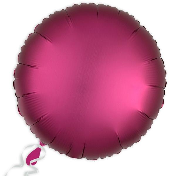 Folieballon rund Satin Luxe Pink, 34 cm