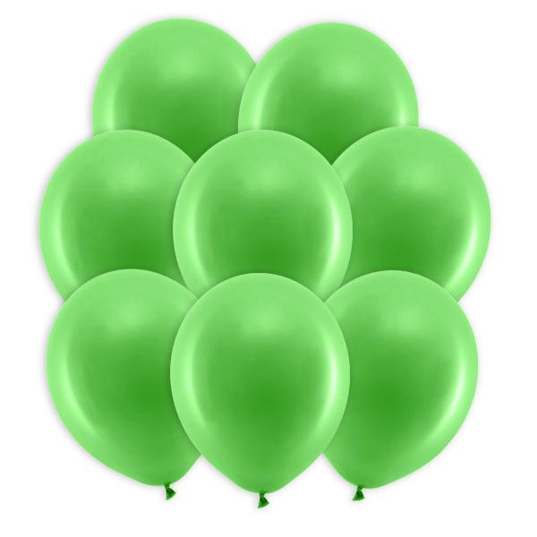 Grüne Pastell-Ballons, 10 Stück, 30cm