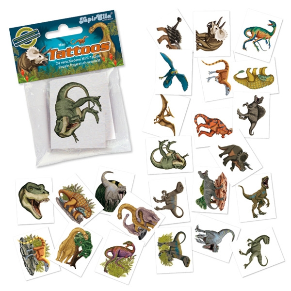 Mini-Tatto-Set Dinosaurier, 24 Stück