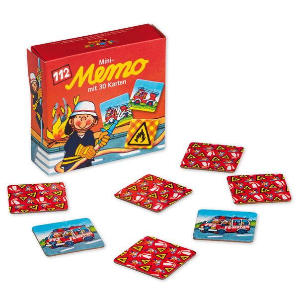 """Mini Memoryspiel """"Feuerwehr"""" mit 30 bunten Kärtchen, tolles Geschenk"""