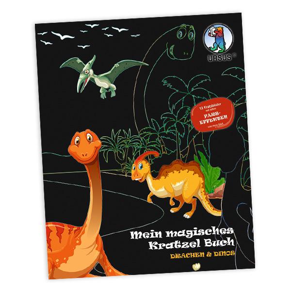 """Mein magisches Kratzel Buch """"Drachen & Dinos"""""""