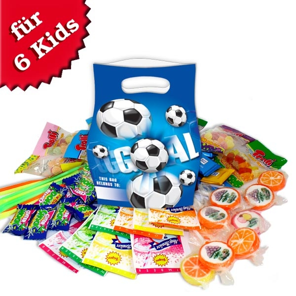 Süßes im Tütchen, Fußball, für 6 Kids